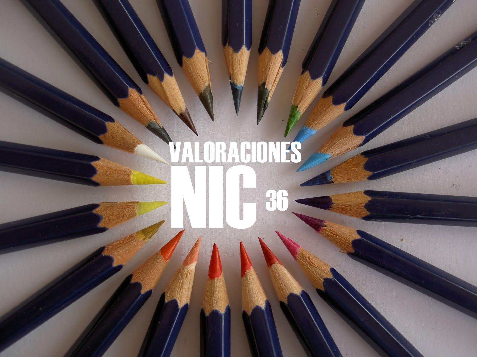 Valoraciones contables nic36